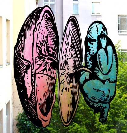 Vinyl and PVA on Glass - 2014 - 82cm x 72cm